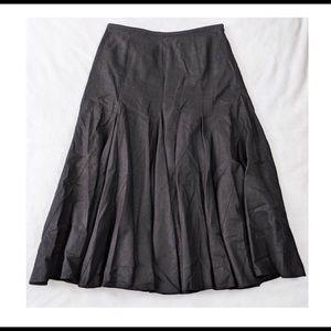 Loft Ann Taylor Black Midi Gypsy Skirt